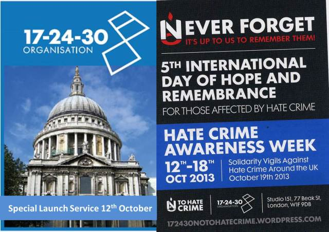 Hold these Dates for Hate Crime Awareness Week 2013 | 17-24-30 no to ...
